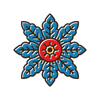 花曼荼羅タトゥー