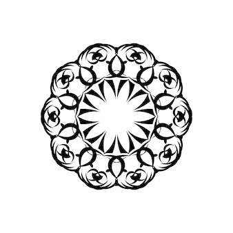 꽃 만다라. 빈티지 장식 요소입니다. 동양 패턴, 벡터 일러스트 레이 션입니다. 이슬람, 아랍어, 인도, 모로코, 스페인, 터키, 파키스탄, 중국, 신비주의, 오스만 모티브. 색칠 공부 페이지