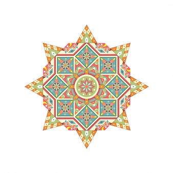 꽃 만다라 빈티지 장식 요소 동양 패턴