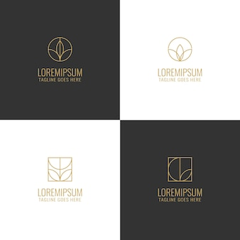Flower minimal line logo