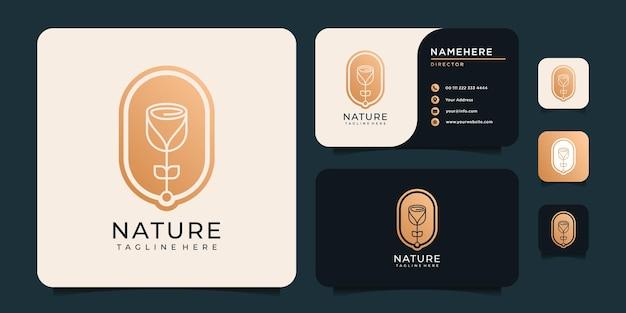 Цветочная природа логотип