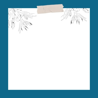 Цветок на белом фоне шаблон социальной рекламы