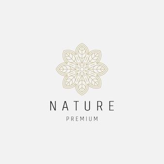 Шаблон дизайна логотипа символ красоты цветочный орнамент