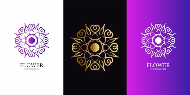 Дизайн шаблона логотипа цветок, орнамент или мандала.