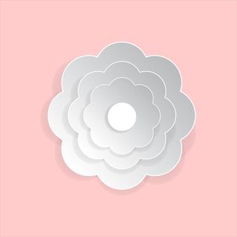 Flower paper art on pink background