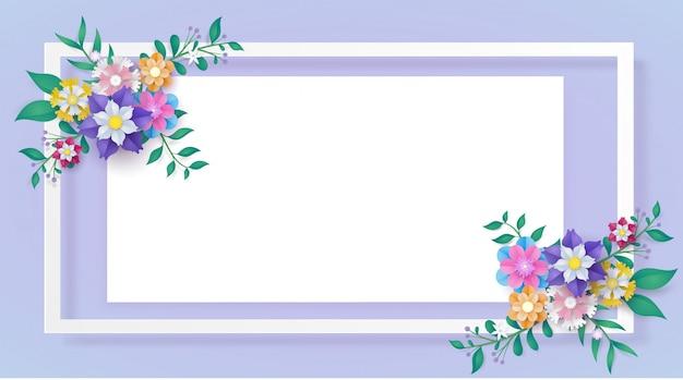 Flower paper cut frame