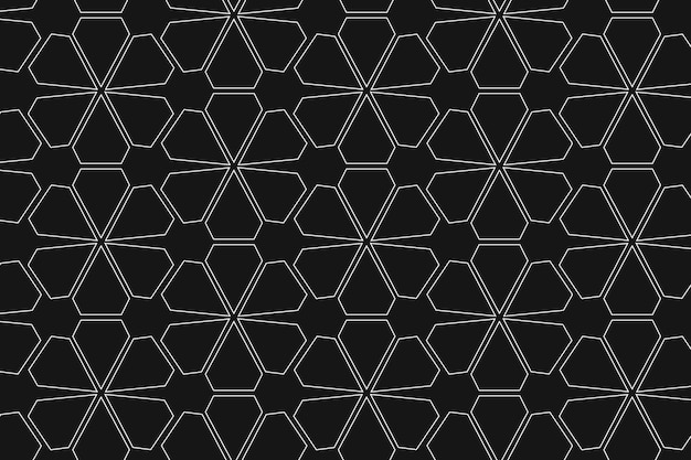 Flower pattern background, abstract geometric, simple design vector