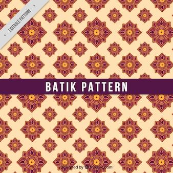 Flower pattern in batik style