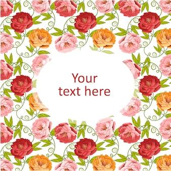 Цветочный узор для дизайна и макета обоев приглашения