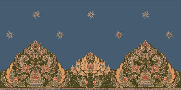 플라워 패턴 기하학적 에스닉 패턴 전통적인 디자인