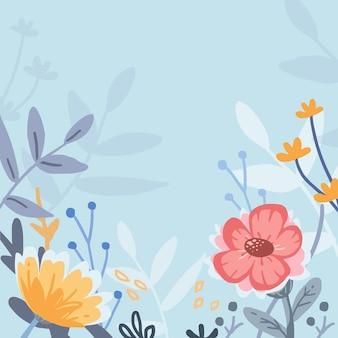 Flower pattern pastel style