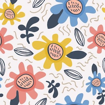 Flower pattern scandinavian