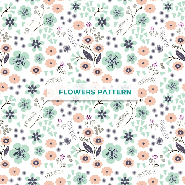Flower pattern template