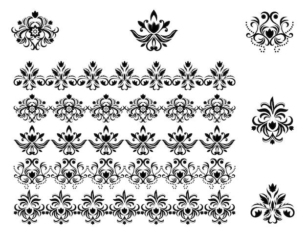 꽃 패턴과 테두리