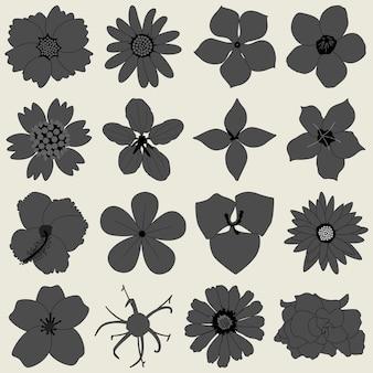 Цветочный лепесток флоры значок.
