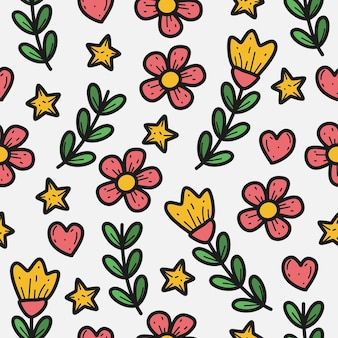 Flower plant pattern  template