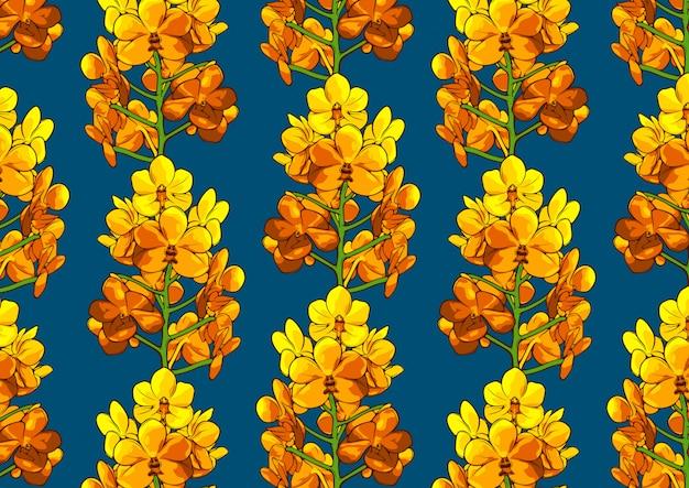 花のシームレスなパターン、現実的な図面。