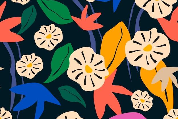 Flower seamless pattern aesthetic background design vector