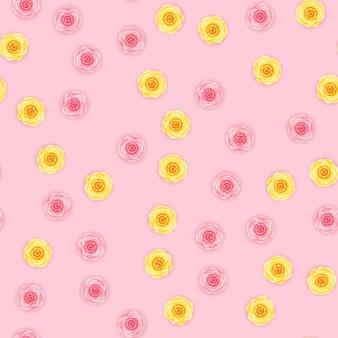 花のシームレスなパターンの背景。
