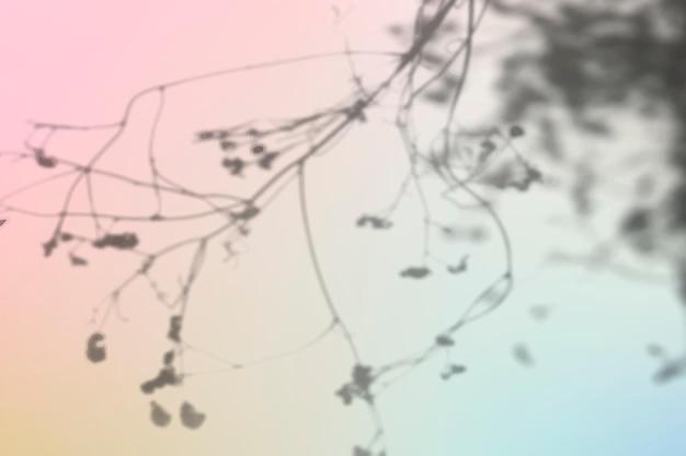 花の影の背景ベクトルカラフルなグラデーション