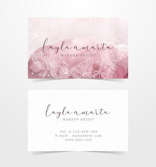 Цветочные формы на фоне всплеск визитной карточки