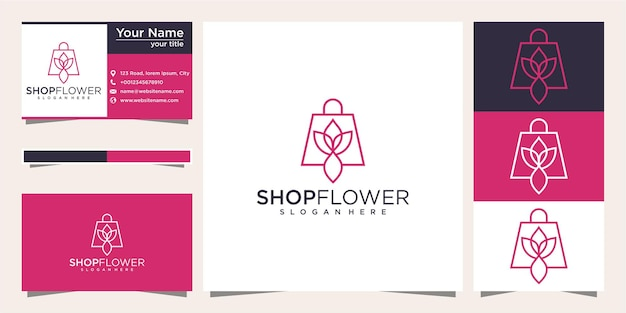 Flower shop logo and business card