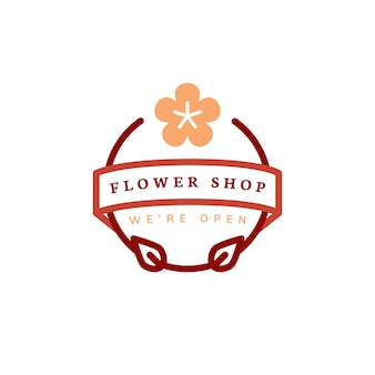 Flower shop logo design vector