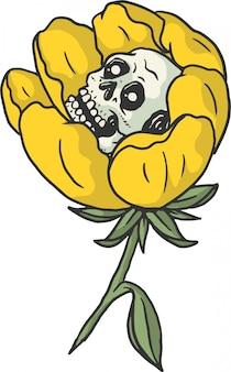 Flower and skull