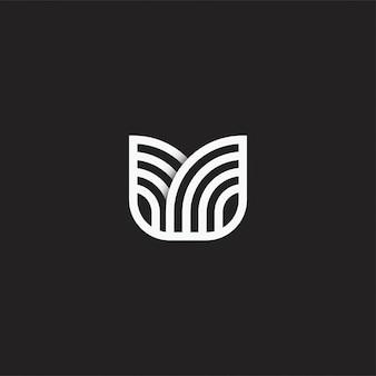 花の茎のロゴのテンプレートデザイン。図。抽象的な花の茎のwebアイコンとロゴ。