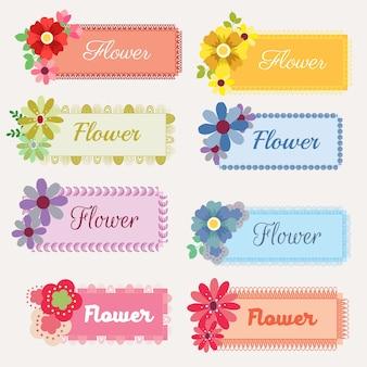 꽃 스티커 세트