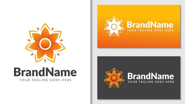Цветок лето концепция логотип icontemplate