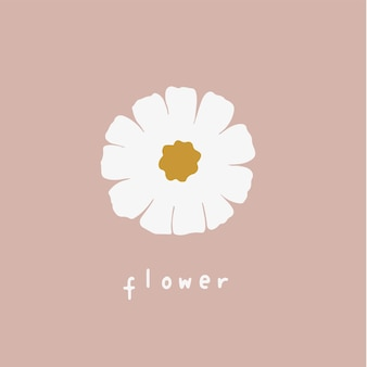 花のシンボルソーシャルメディア投稿ベクトルイラスト