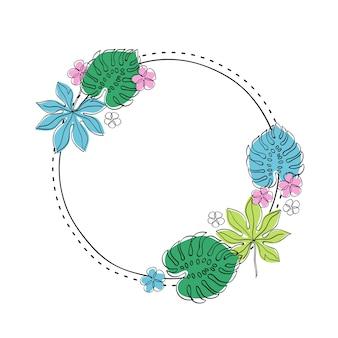 花をテーマにしたフレームデザイン