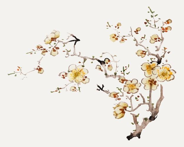 Hu zhengyan의 작품에서 리믹스된 꽃 벡터 식물 예술 프린트