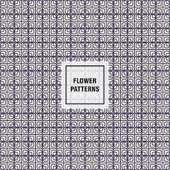 웹 페이지 배경 및 표면 질감 꾸미기를위한 꽃 벡터 패턴