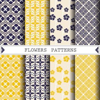 웹 페이지 배경 꾸미기를위한 꽃 벡터 패턴