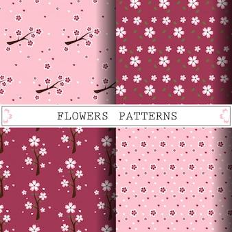 꽃 벡터 패턴
