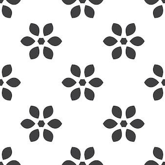 花、ベクトルのシームレスなパターン、編集可能webページの背景、パターンの塗りつぶしに使用できます
