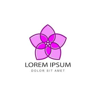 Flower venus logo template design vector