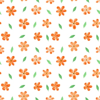 Flower watercolor seamless pattern background