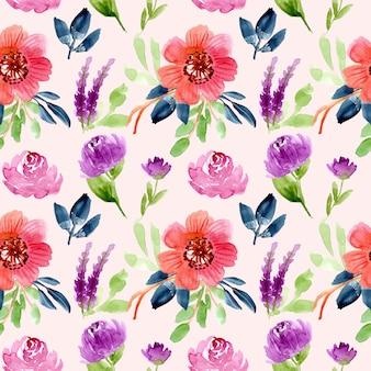 花の水彩シームレスパターン