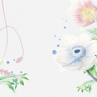 Flower wedding background, aesthetic border design vector, remixed from vintage public domain images