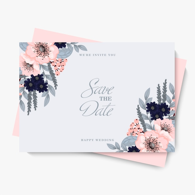 Flower for wedding template
