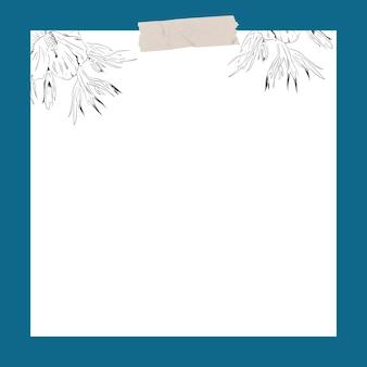 Fiore su uno sfondo bianco modello di annunci social