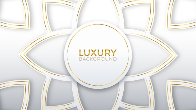 Flower white gold luxury background