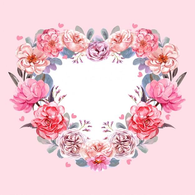 Flower with valentine's day