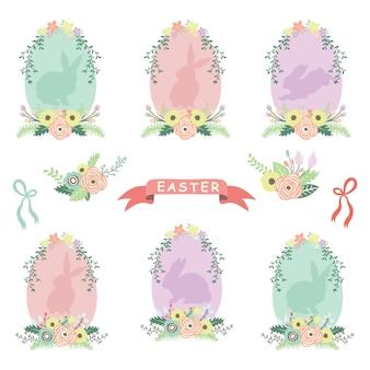 Цветочный венок пасхальные яйца