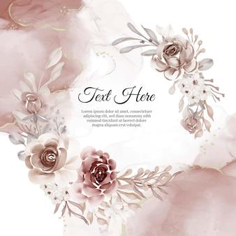 꽃 테라코타의 꽃 화환 프레임