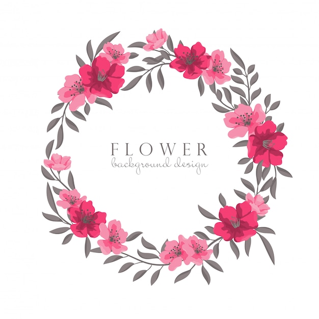 Flower wreaths drawing
