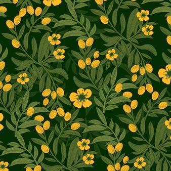 Желтый цветок в саду